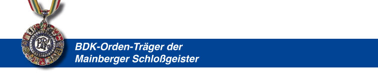 BDK-Orden-Träger der Mainberger Schlossgeister